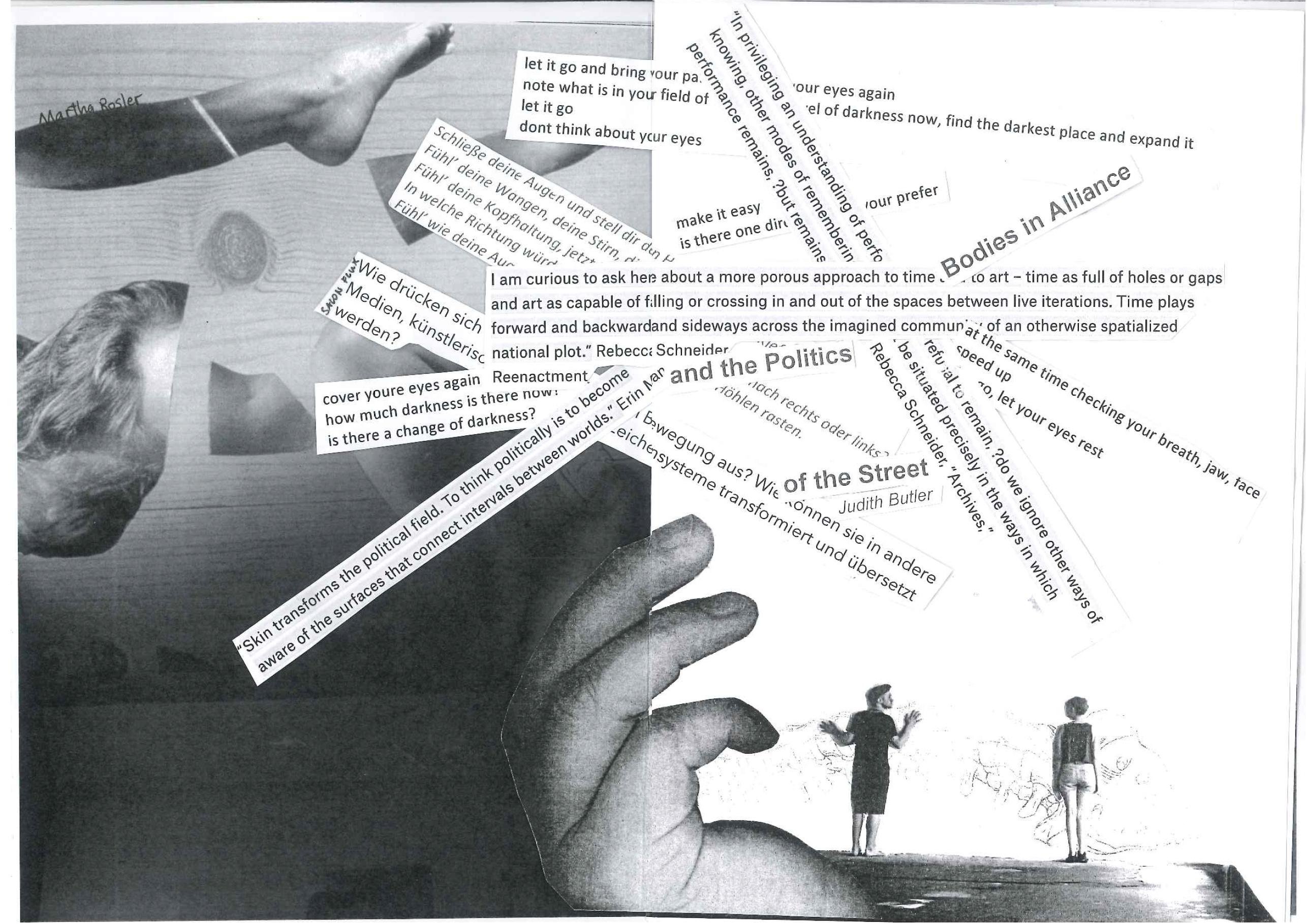 © Performatorium 2017, 'Augenzeug*innenbericht', Art Zine zur Performance, S. 4-5.