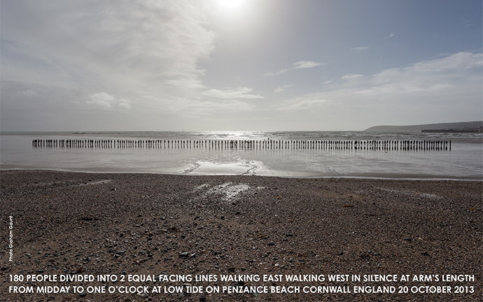 © Graham Gaunt. Hamish Fulton, Cornwall, 2013