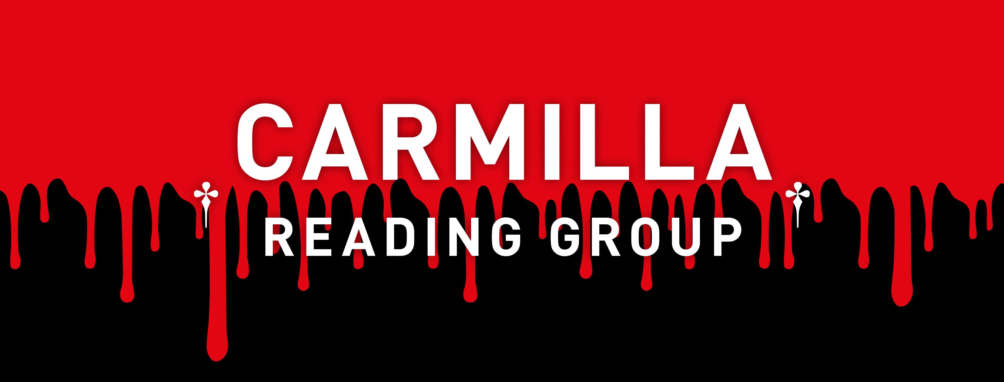 Carmilla // Reading Group, graphic design: (c) Andrea Lehsiak, 2020